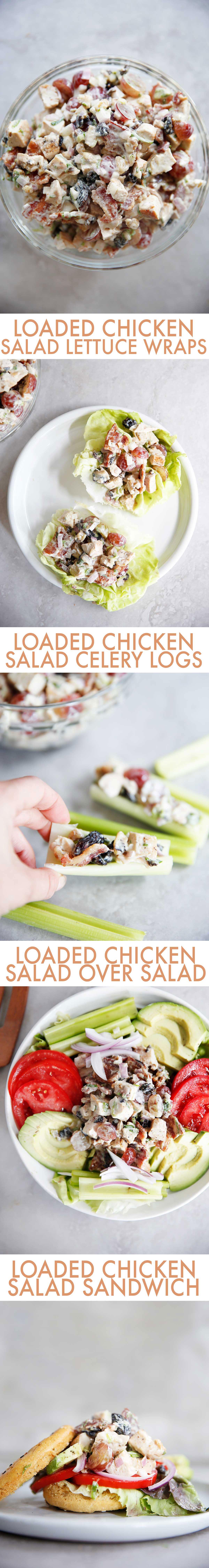 Loaded Chicken Salad: Four Ways | Lexi's Clean Kitchen