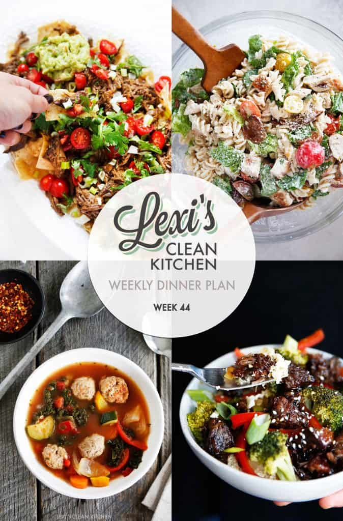 Meal Plan Graphic Week 44 | Lexi's Clean Kitchen