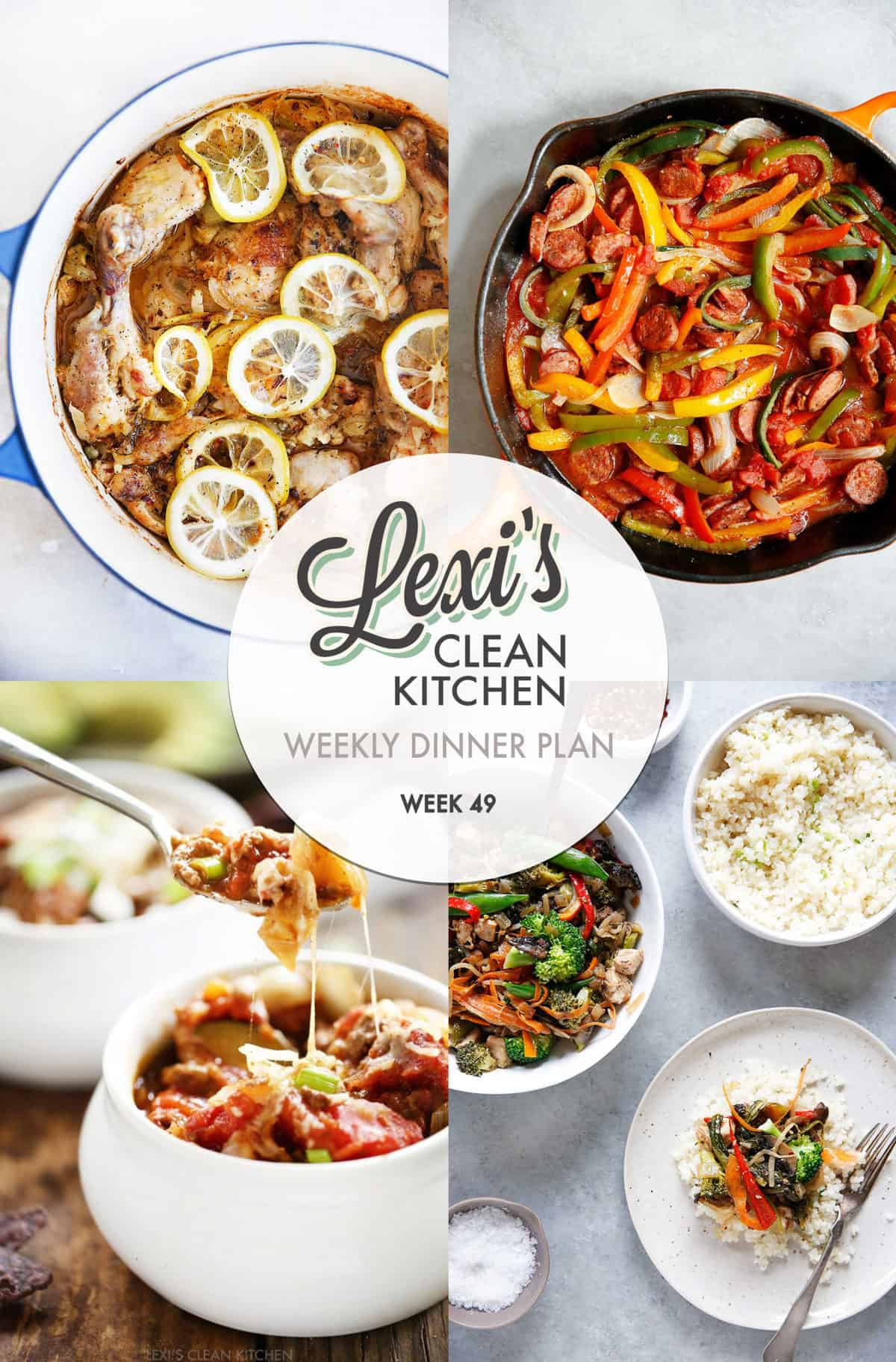 Weekly Dinner Plan Week 49 | Lexi's Clean Kitchen