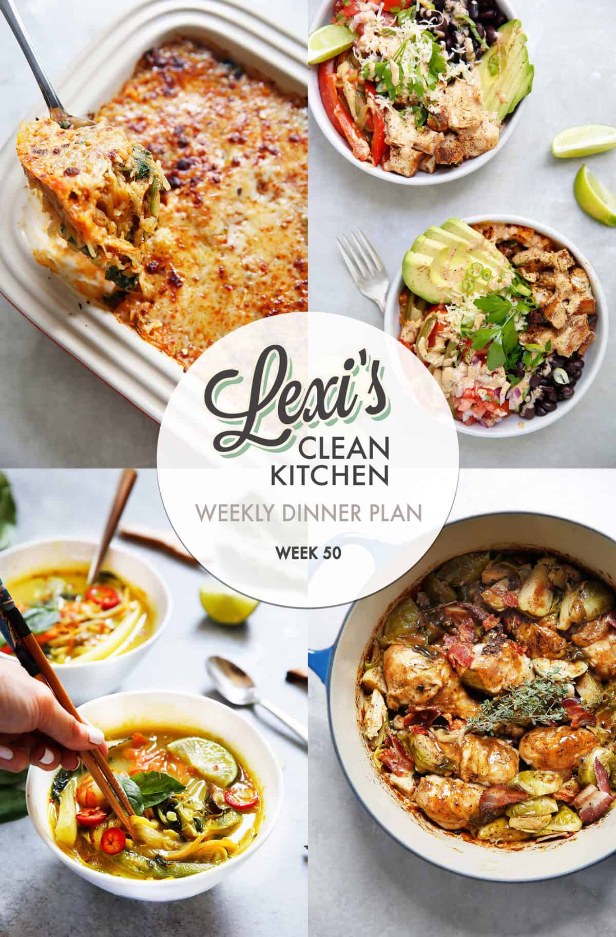 Lexi's Weekly Dinner Plan Week 50