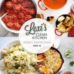 Meal Plan Graphic Week 52 | Lexi's Clean Kitchen