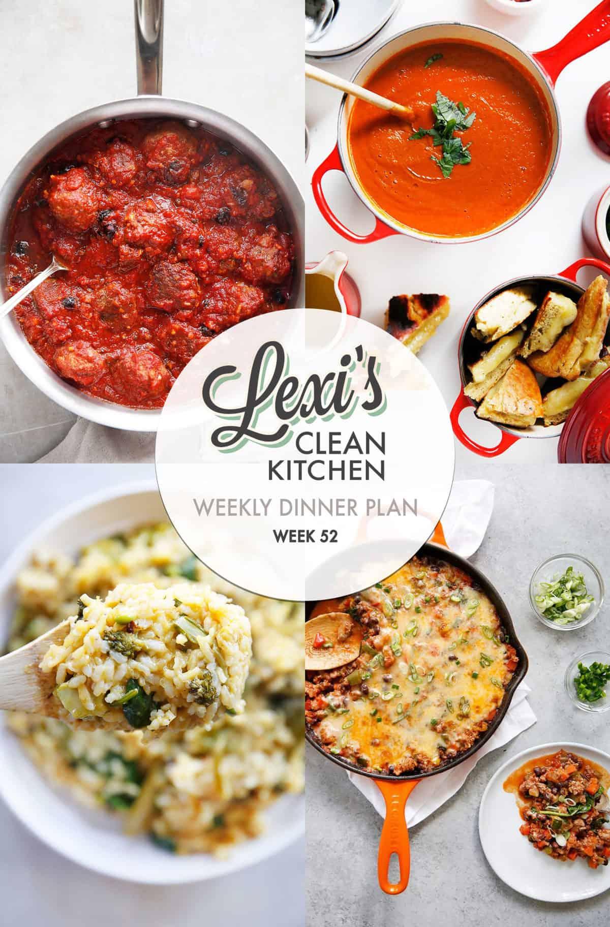 Lexi's Weekly Dinner Plan Week 52