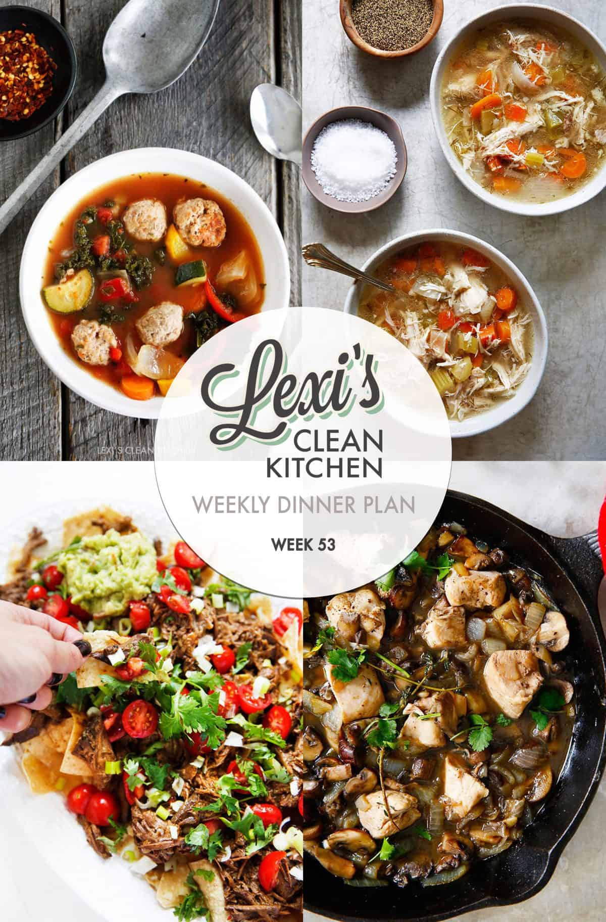 Lexi's Weekly Dinner Plan Week 53