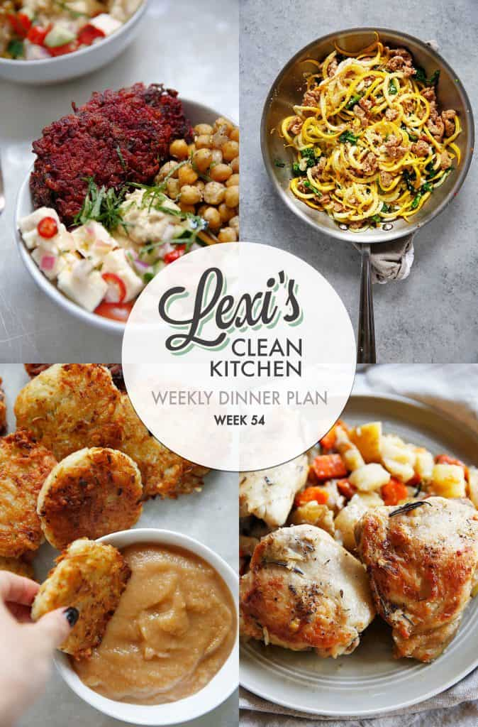 Meal Plan Graphic Week 54 [paleo-friendly] | Lexi's Clean Kitchen