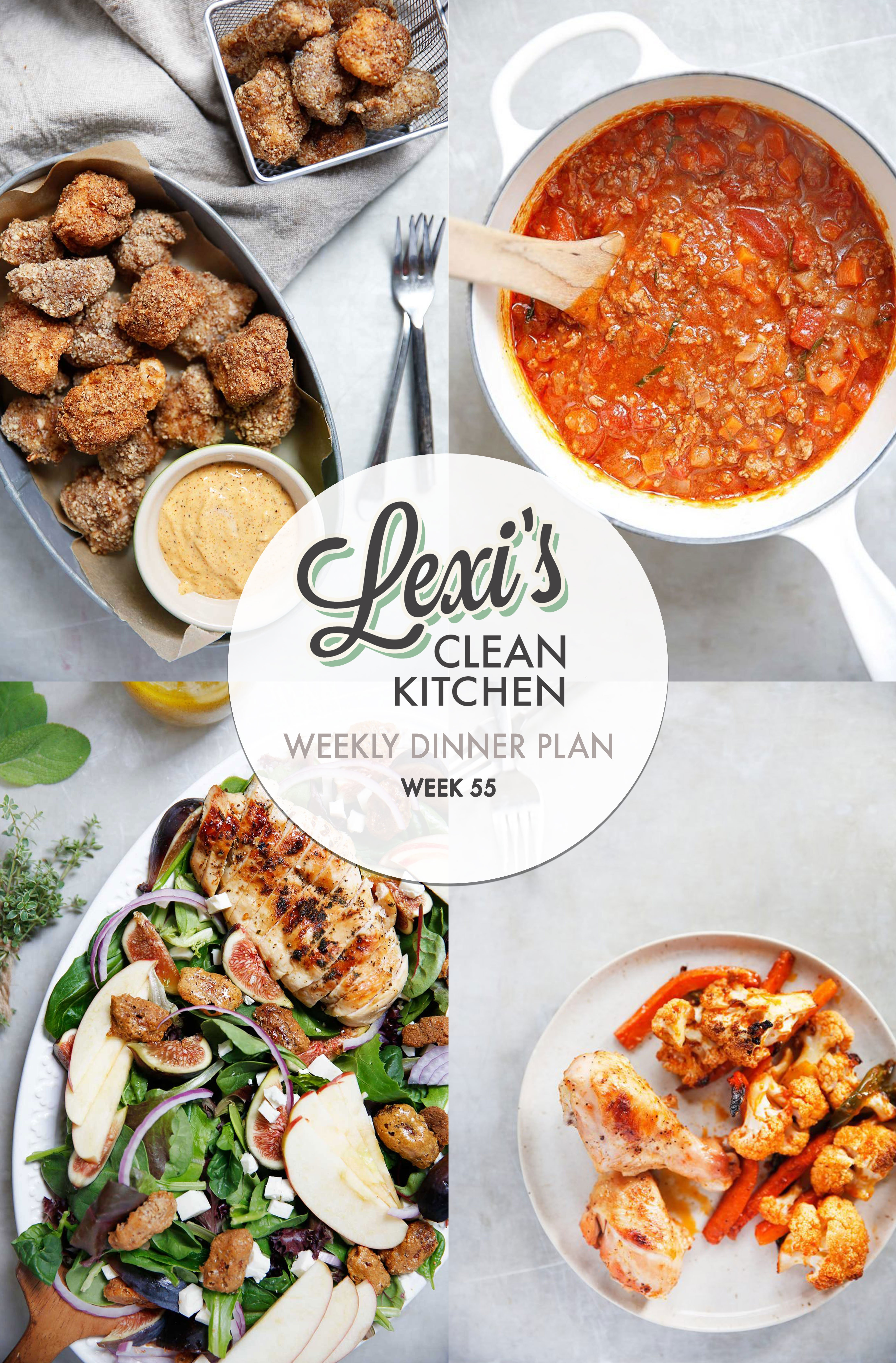 Meal Plan Graphic Week 55 | Lexi's Clean Kitchen