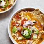 Roasted Poblano and Chicken Soup | Lexi's Clean Kitchen