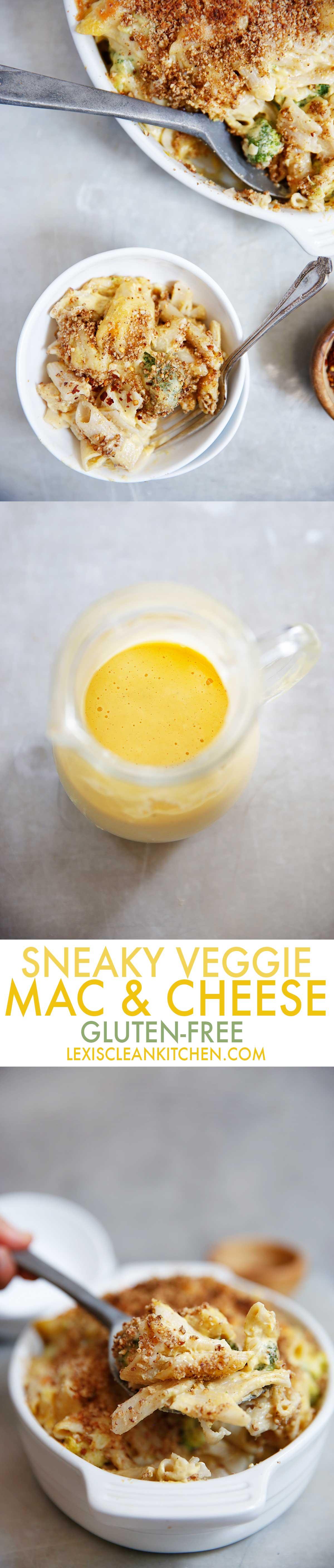 Sneaky Veggie Gluten Free Mac and Cheese Pecan Breadcrumbs | Lexi's Clean Kitchen