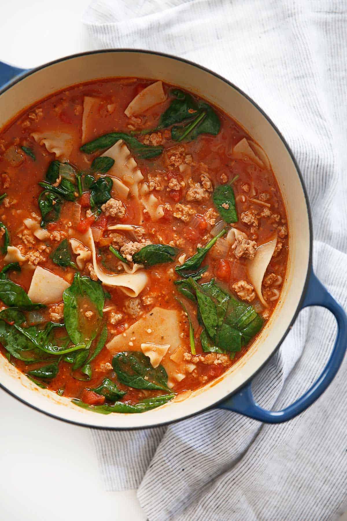 One-Pot Gluten-Free Lasagna Soup (Easy, Gluten-Free) - Lexi's Clean Kitchen