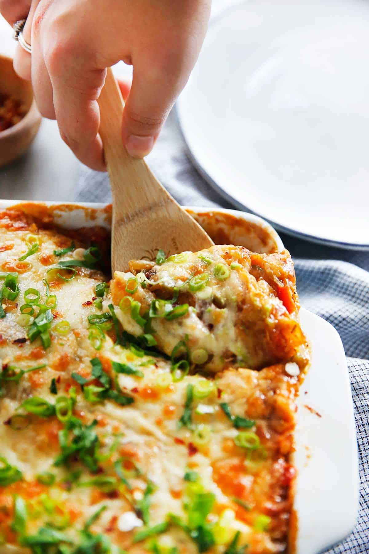 Chicken Enchilada Spaghetti Squash Casserole