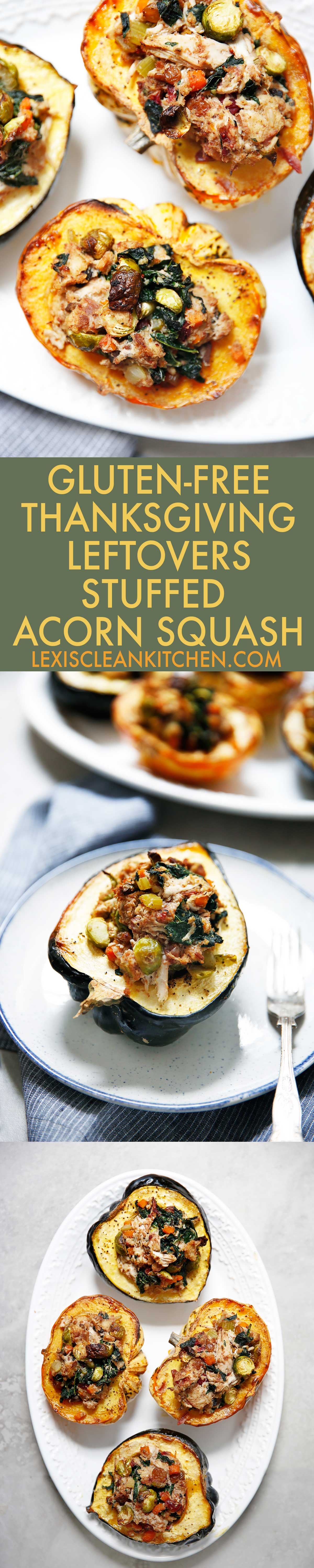 Thanksgiving Leftovers Stuffed Squash (Gluten-Free & Dairy-Free) - Lexi's Clean Kitchen