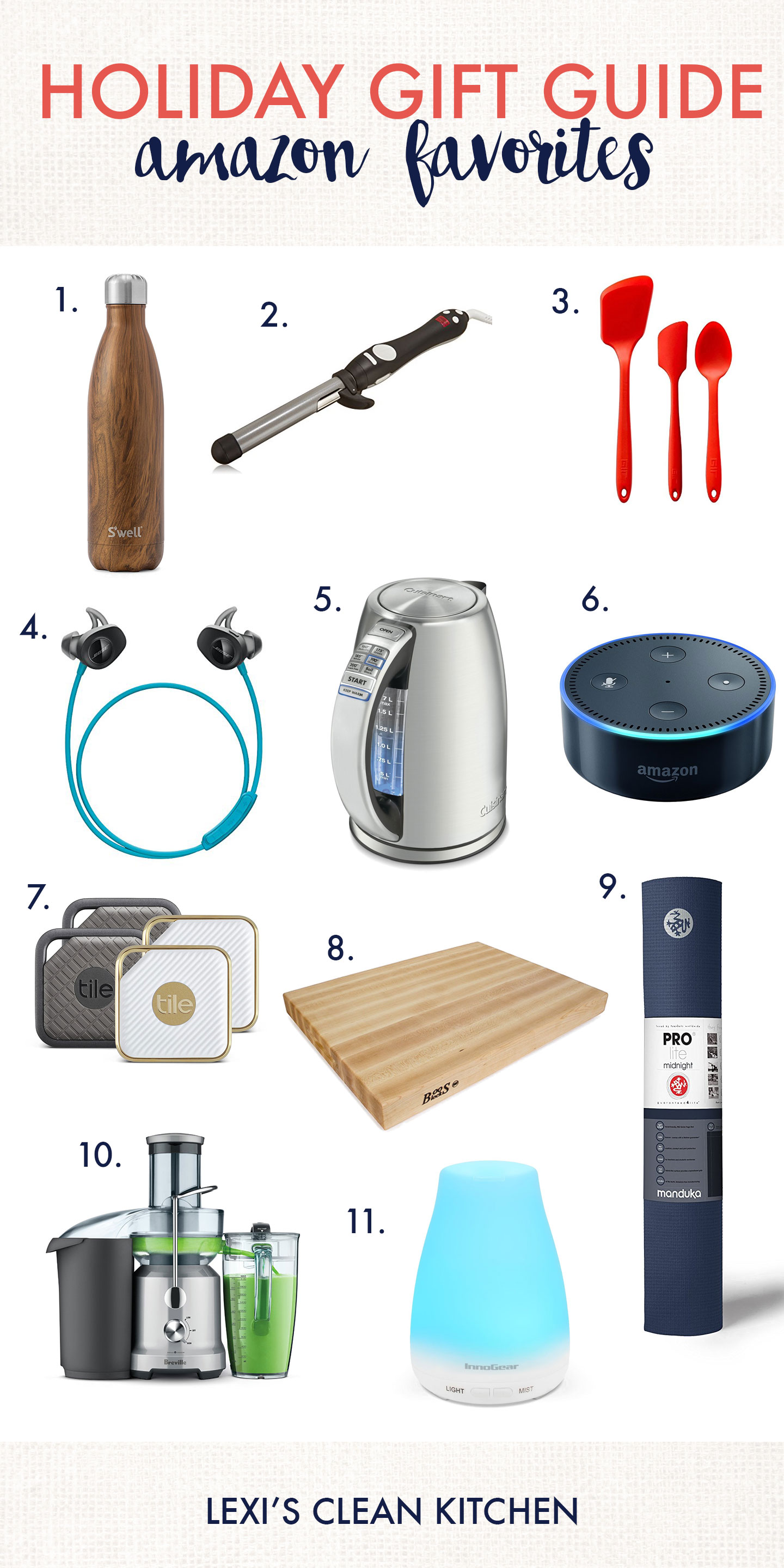 Holiday Gift Guide Amazon Favorites 2017 - Lexi's Clean Kitchen