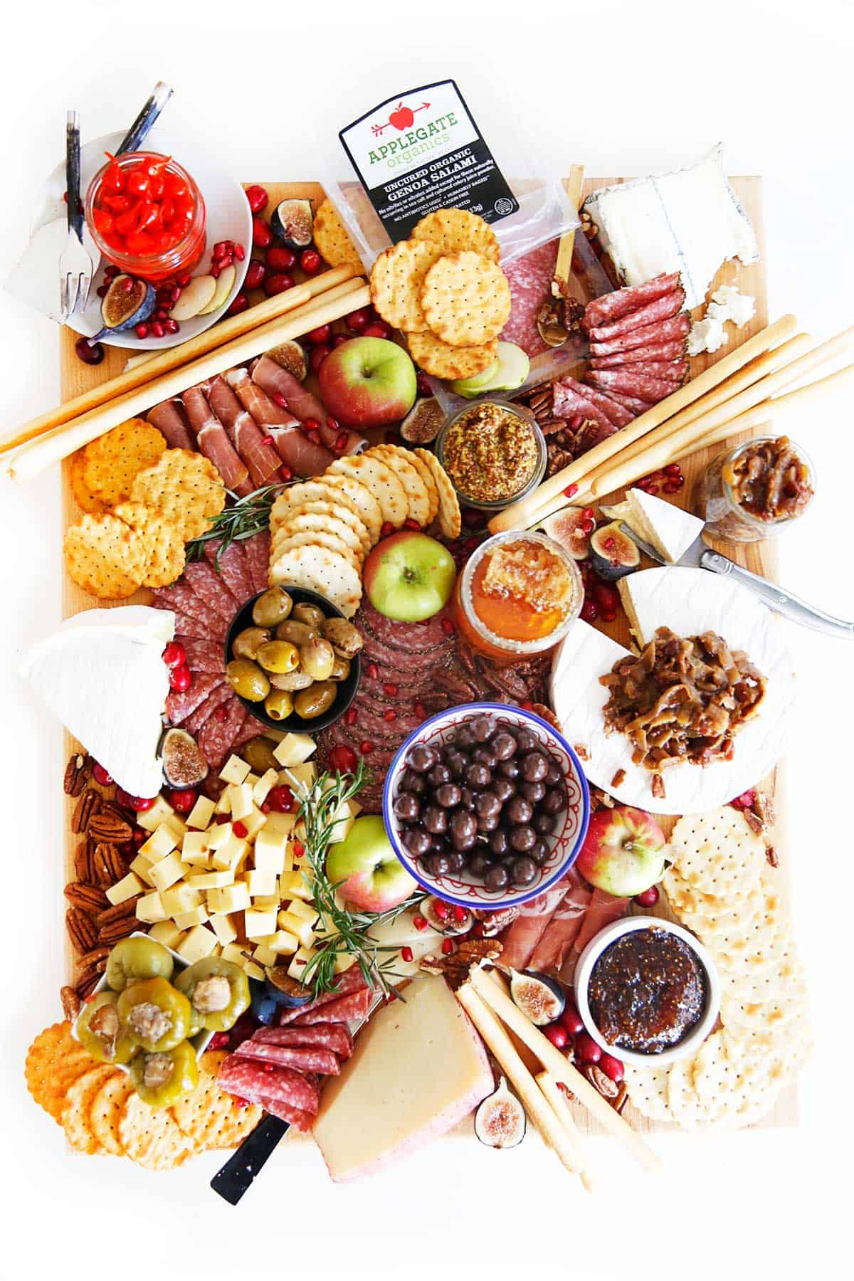 Large Charcuterie Board full of meats and cheese