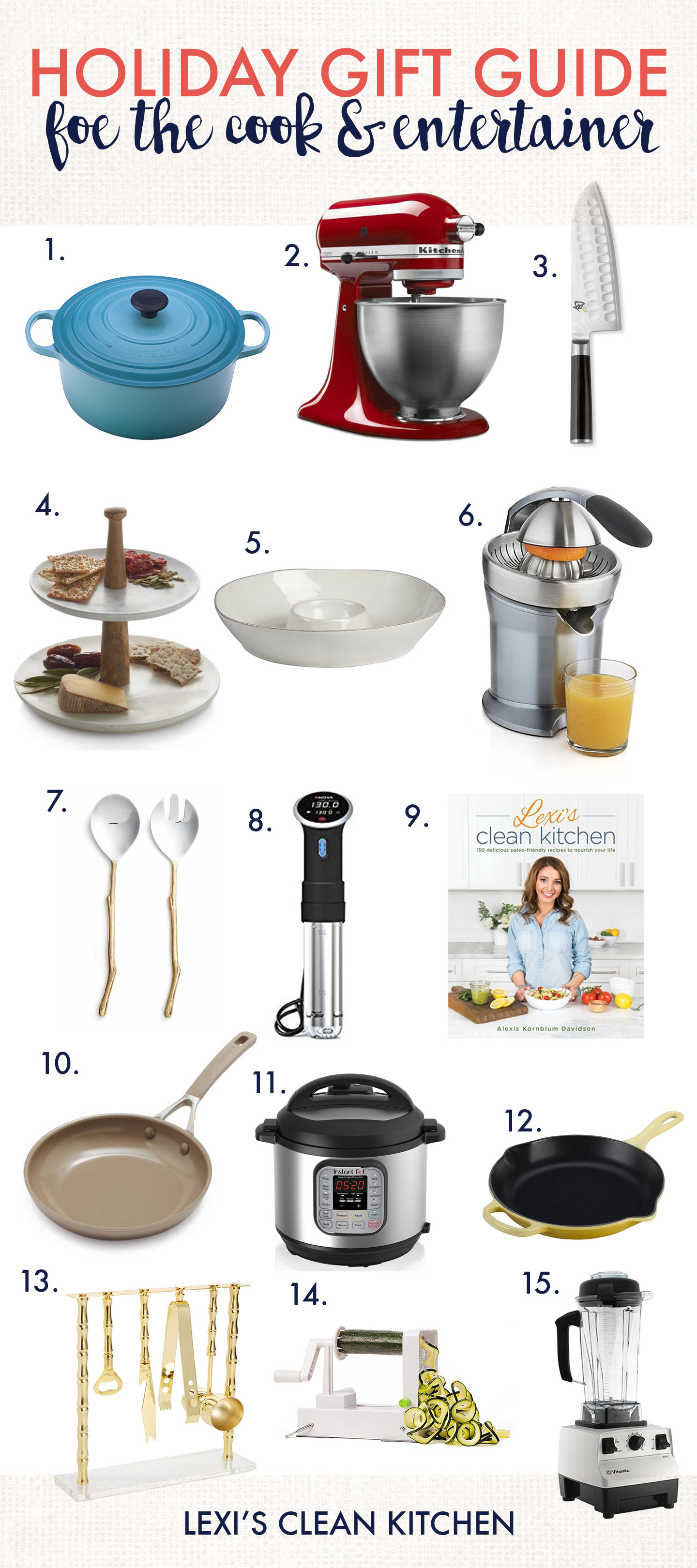 Holiday Gift Guide For The Cook & Entertainer 2017 - Lexi's Clean Kitchen