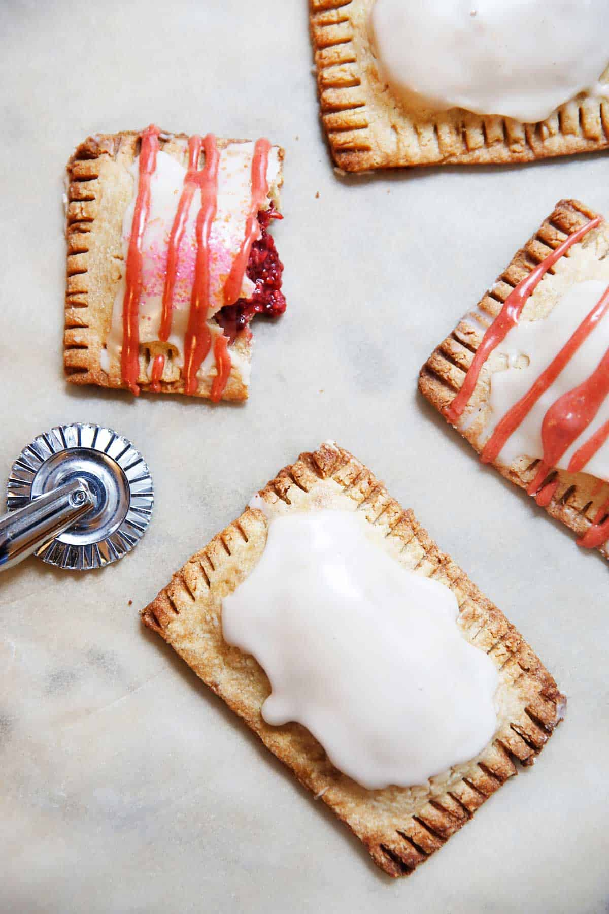 Homemade Pop Tarts frosted