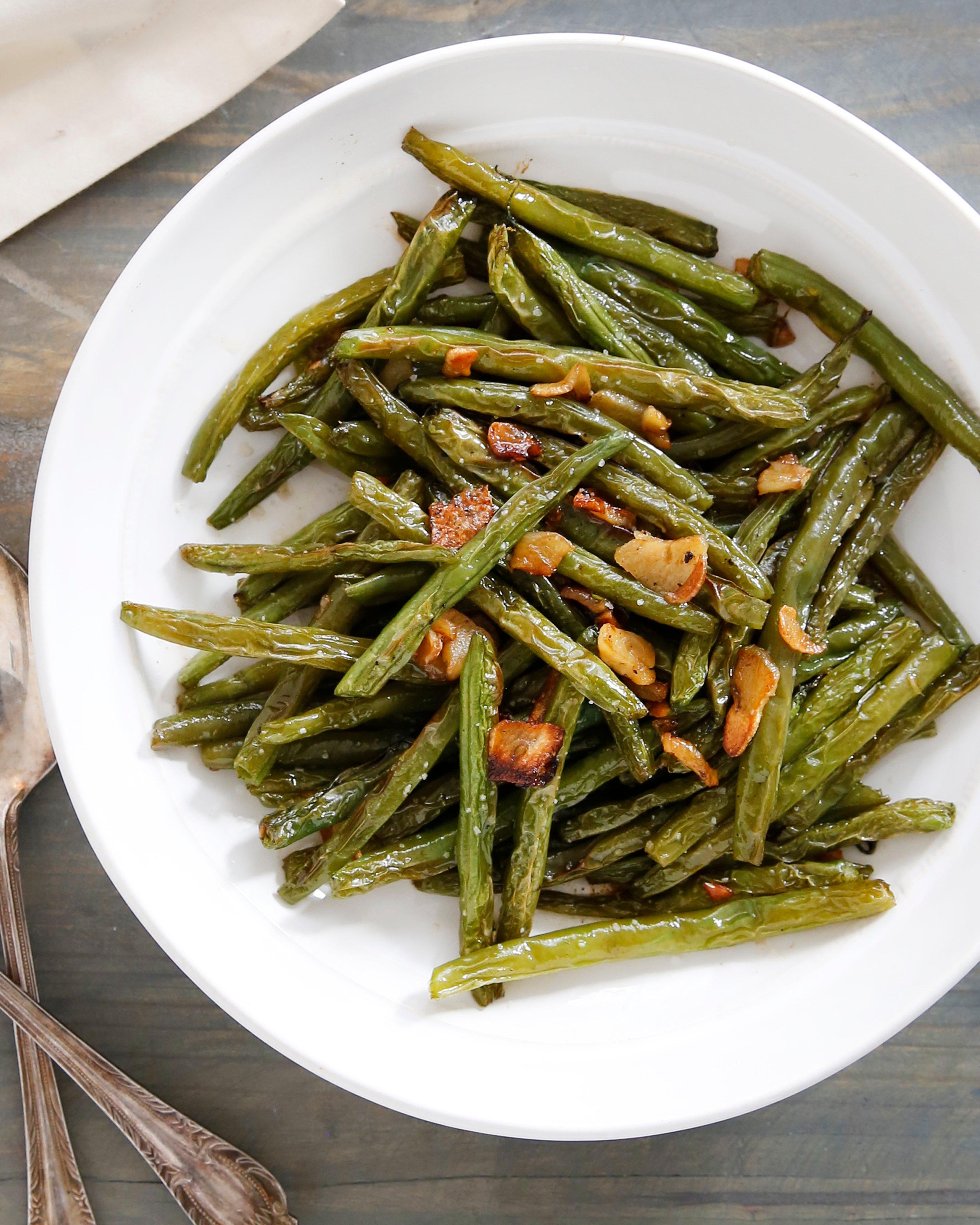 Garlicky Blistered Green Beans