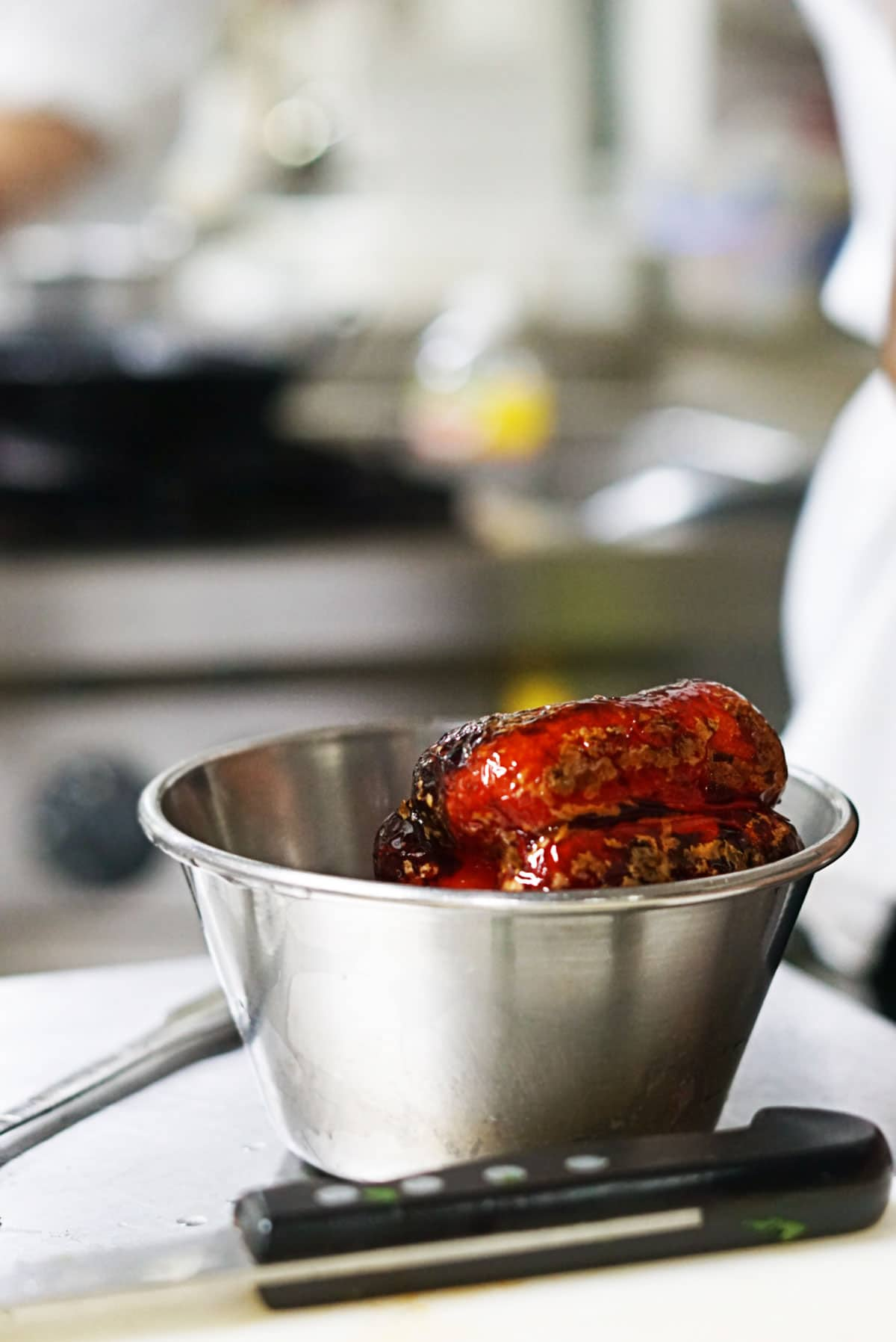 Roasted Red Pepper at restaurant cooking class