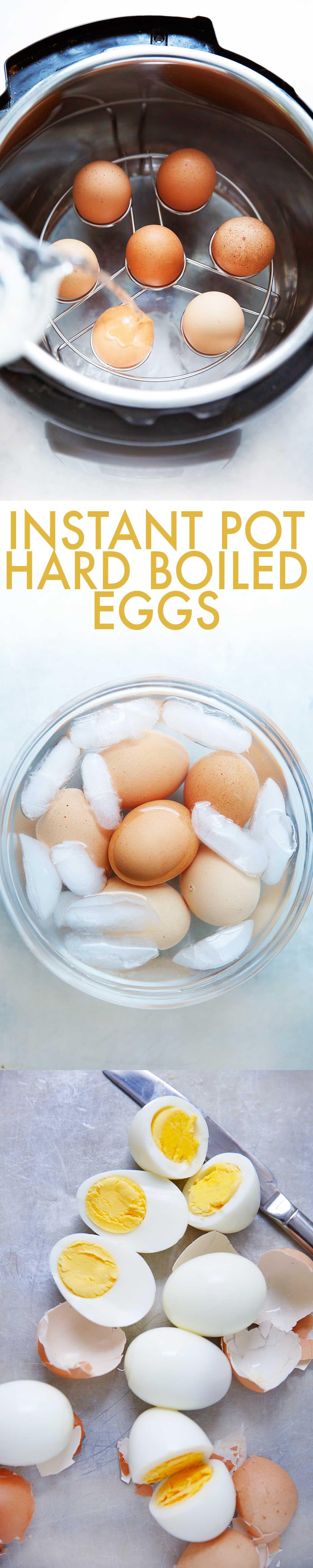 Instant Pot Hard Boiled Eggs - Lexi's Clean Kitchen #instantpot #hardboiledeggs #pressurecooker #eggs