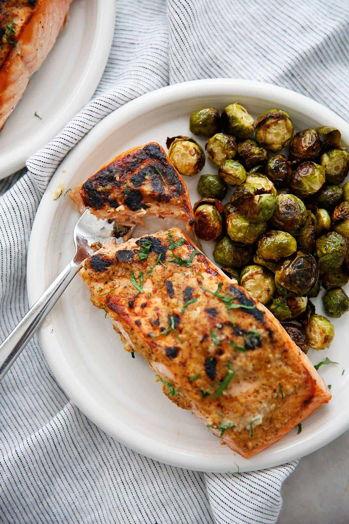3 Ingredient Dijon Salmon Plated