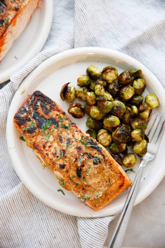 3 Ingredient Salmon with Brussels Sprouts