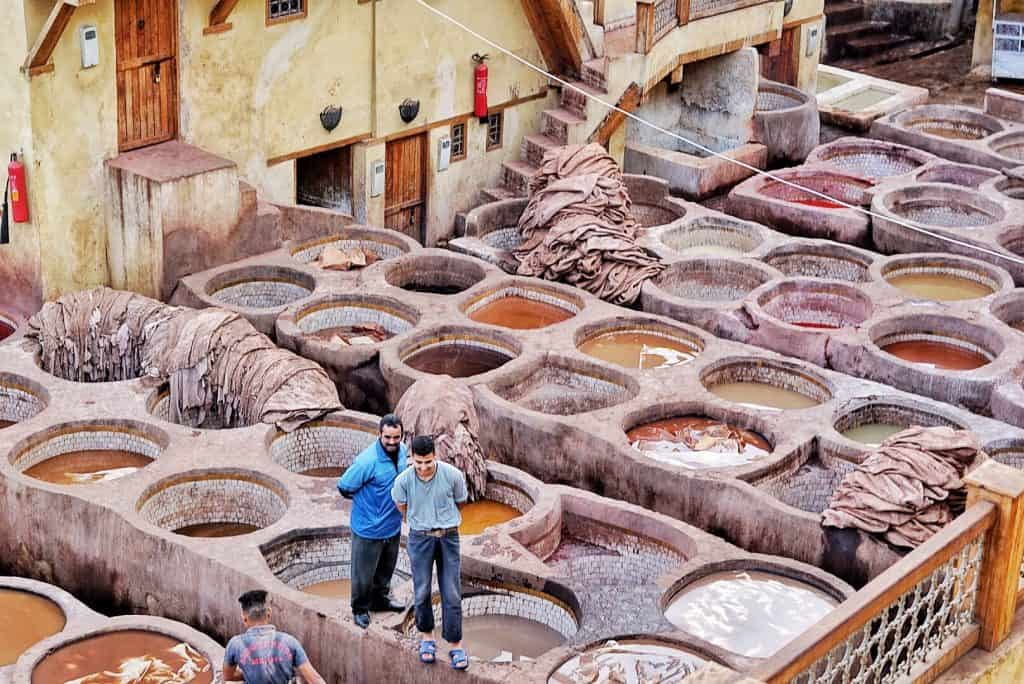 Dye Pits in Fes, Morocco