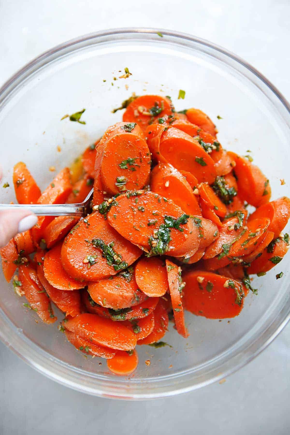 Moroccan Chermoula Carrot Salad