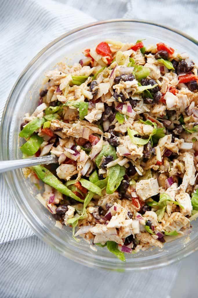 healthy taco chicken salad
