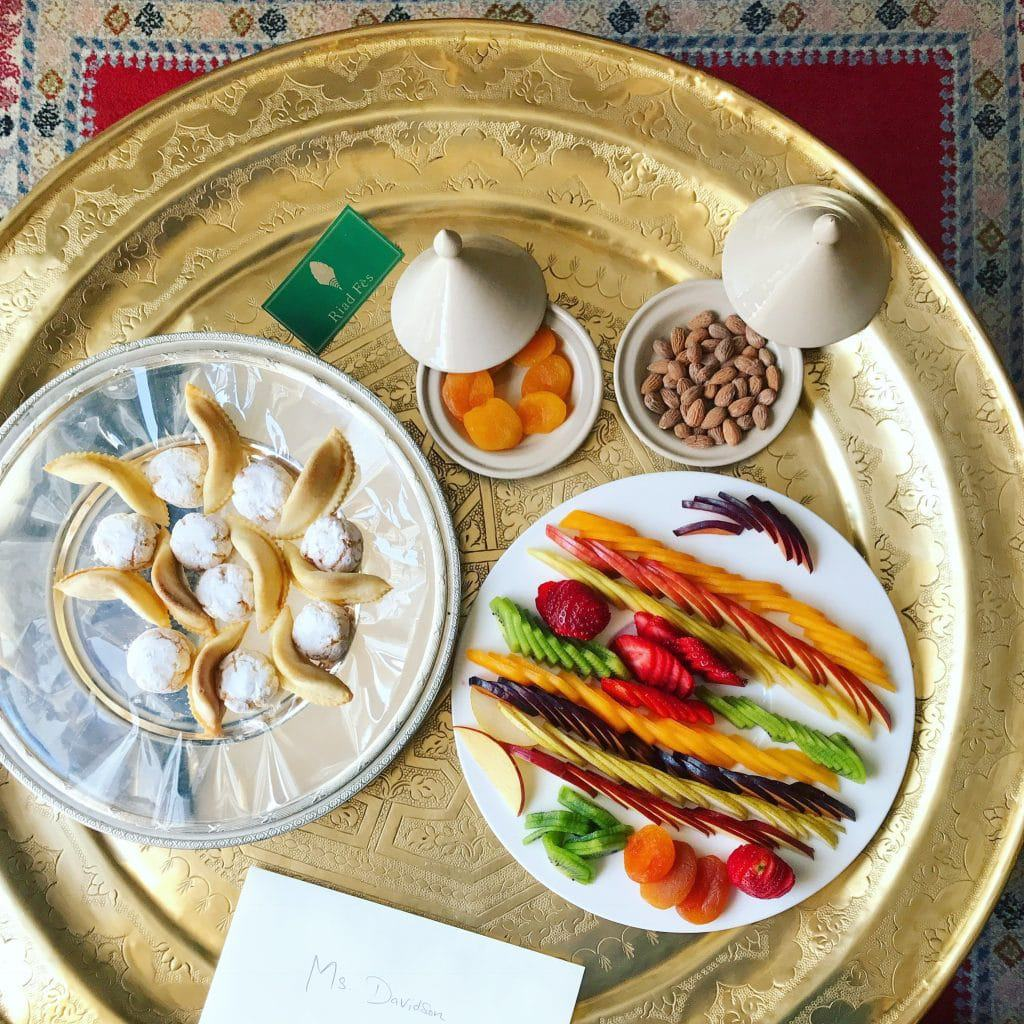 Welcome Treats from Riad Fes Morocco