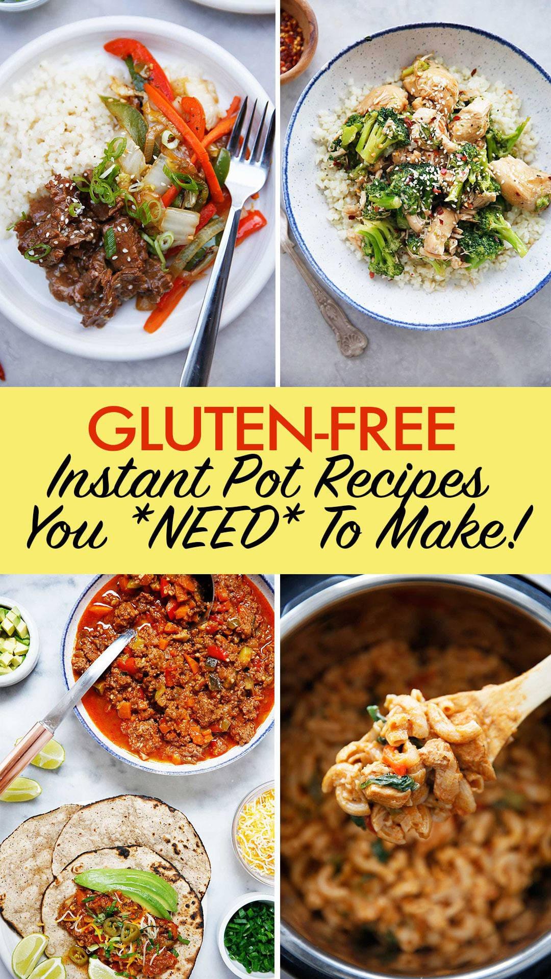 Gluten-Free Instant Pot Recipes You NEED To Make #instantpot #glutenfree #pressurecooker