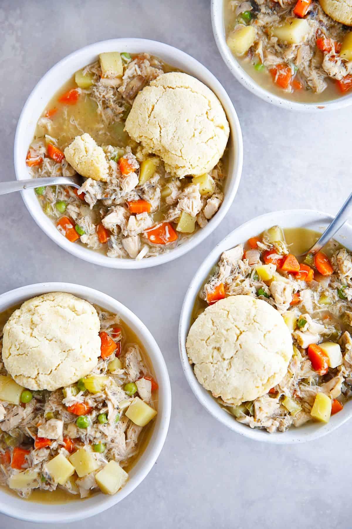 Gluten Free easy chicken pot pie
