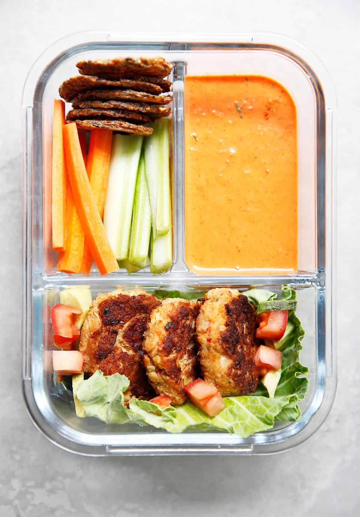 Paleo Tuna Cakes Recipe in meal prep container