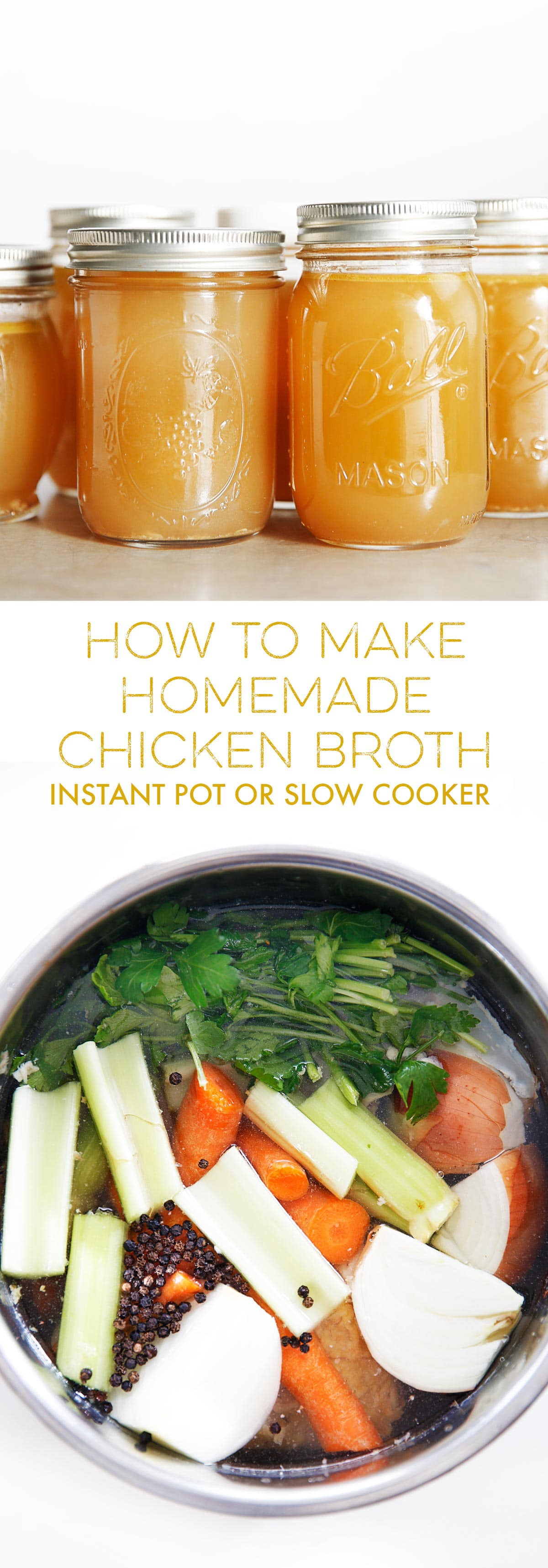Lexi S Clean Kitchen How To Make Chicken Broth Instant Pot Or Slow Cooker