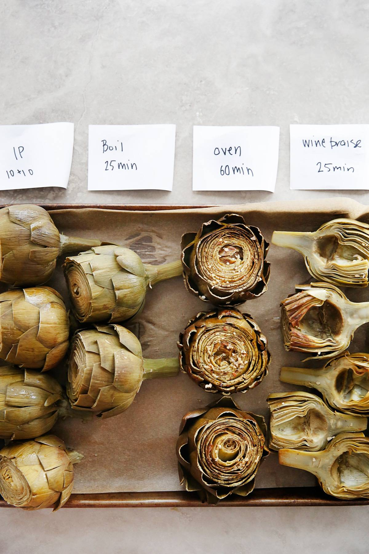 How to cook artichokes demonstration