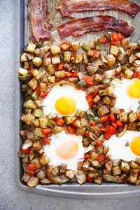 Sheet Pan Classic Breakfast (Eggs, Bacon, & Home Fries!)