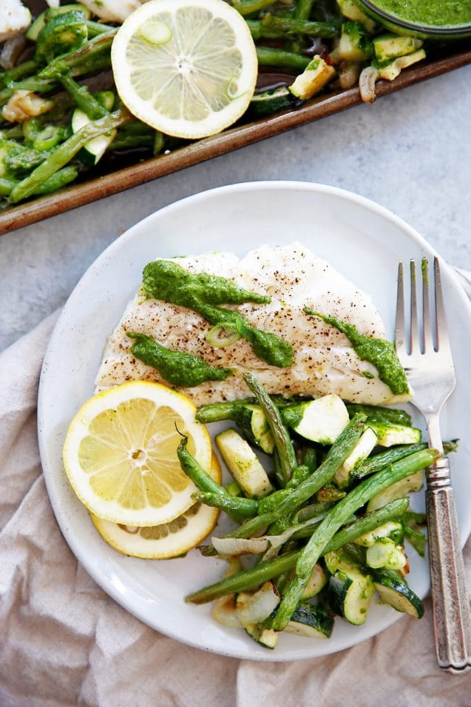 Sheet Pan Lemon and Herb Cod with Vegetables