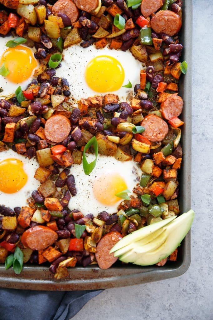Sheet Pan Chorizo and Egg Bake