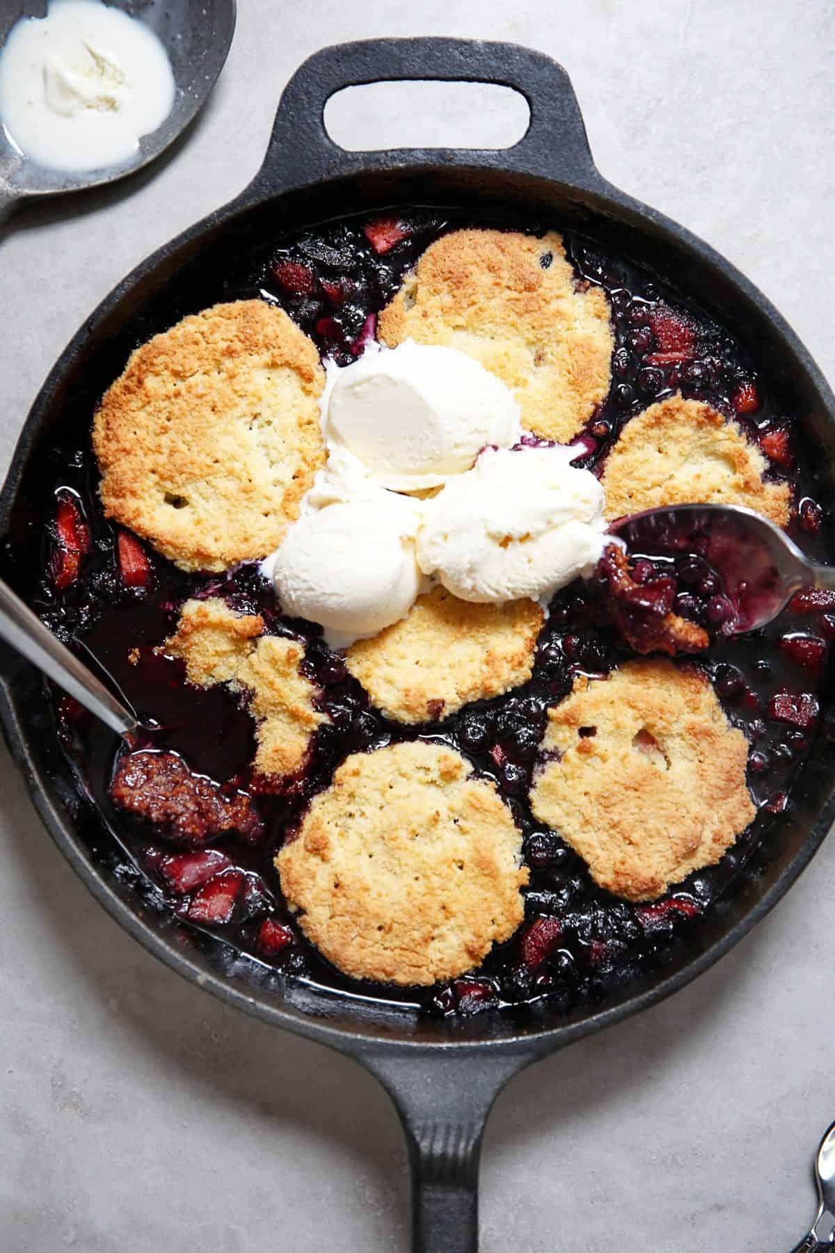 Easy Berry Cobbler (Gluten-Free)