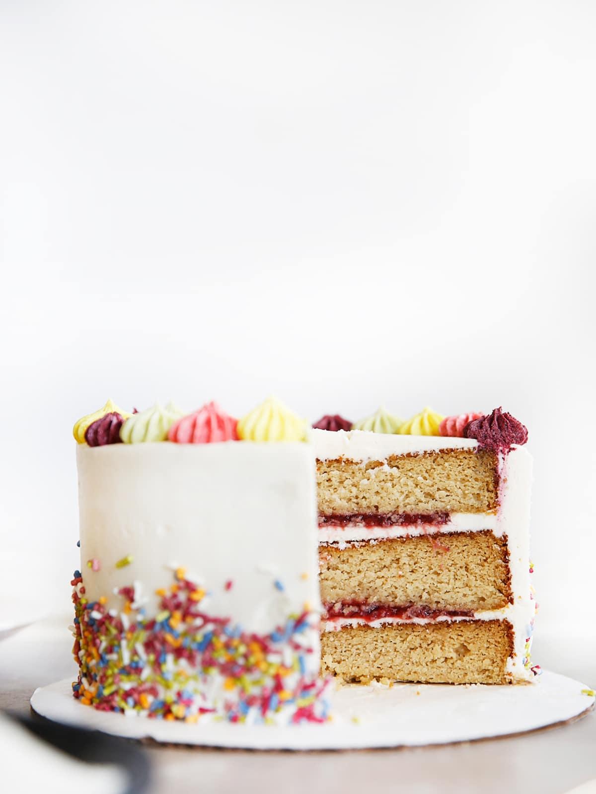 The BEST Gluten-Free Layer Birthday Cake