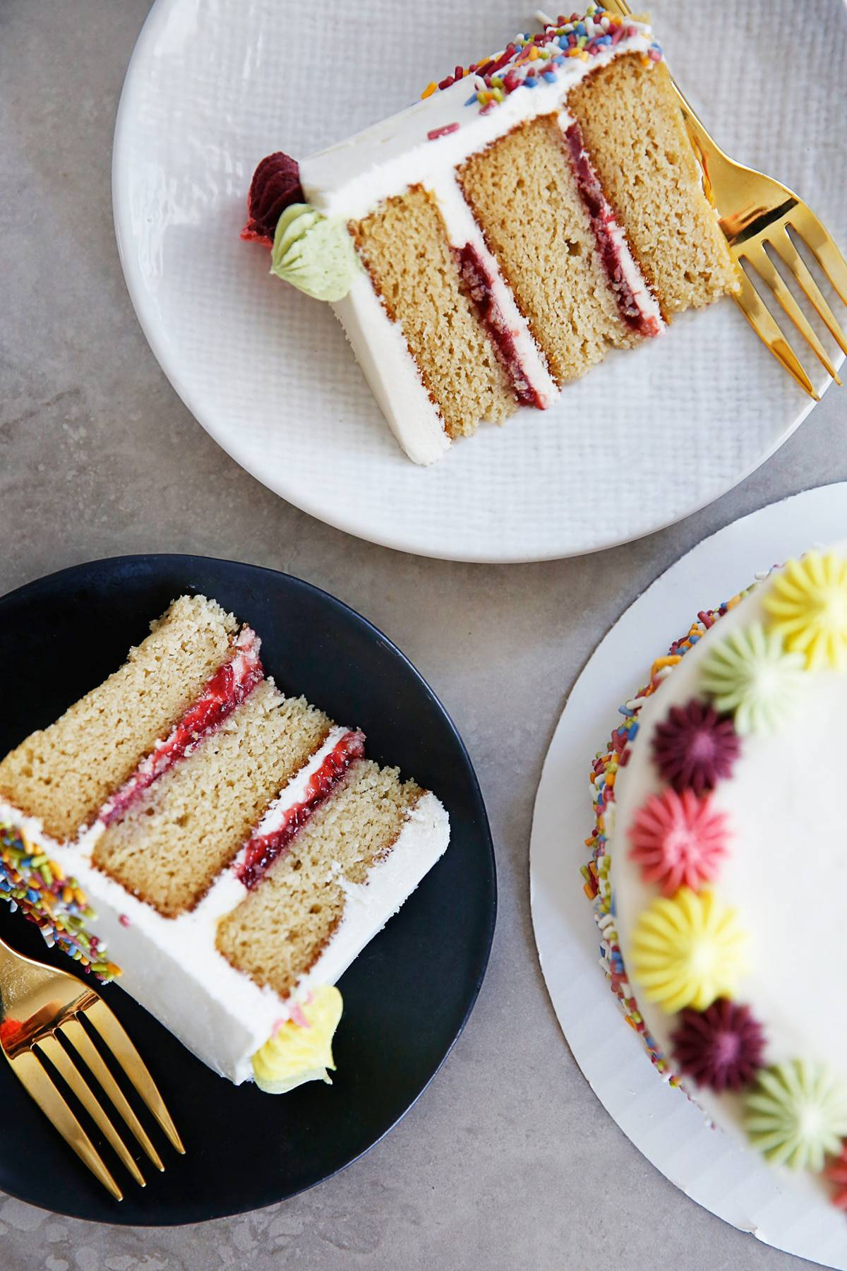 The BEST Gluten Free Layer Birthday Cake