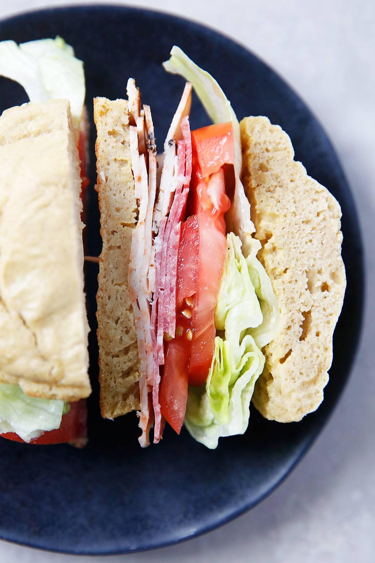 gluten free rolls as a sandwich