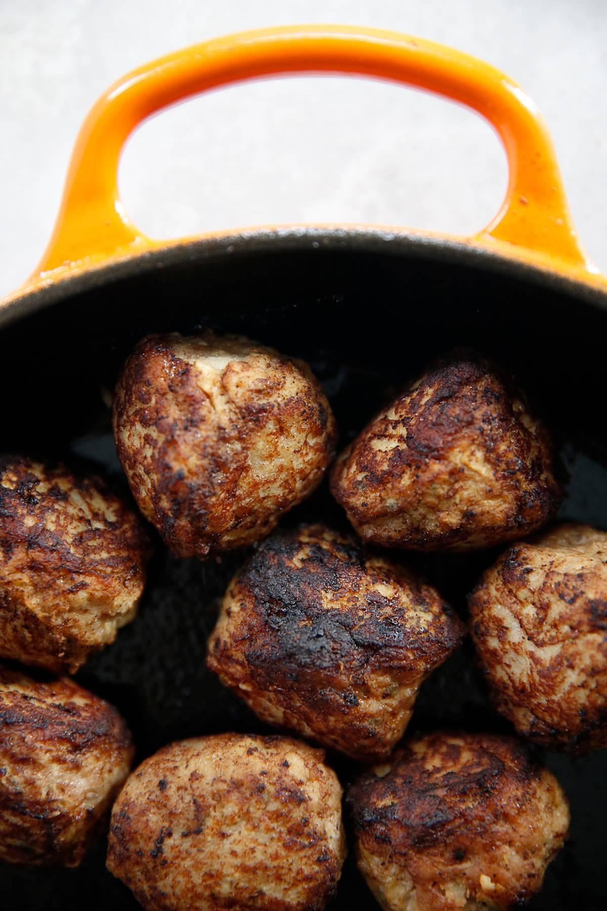 turkey apple meatballs baby