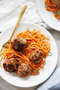 Apple Sage Turkey Meatballs