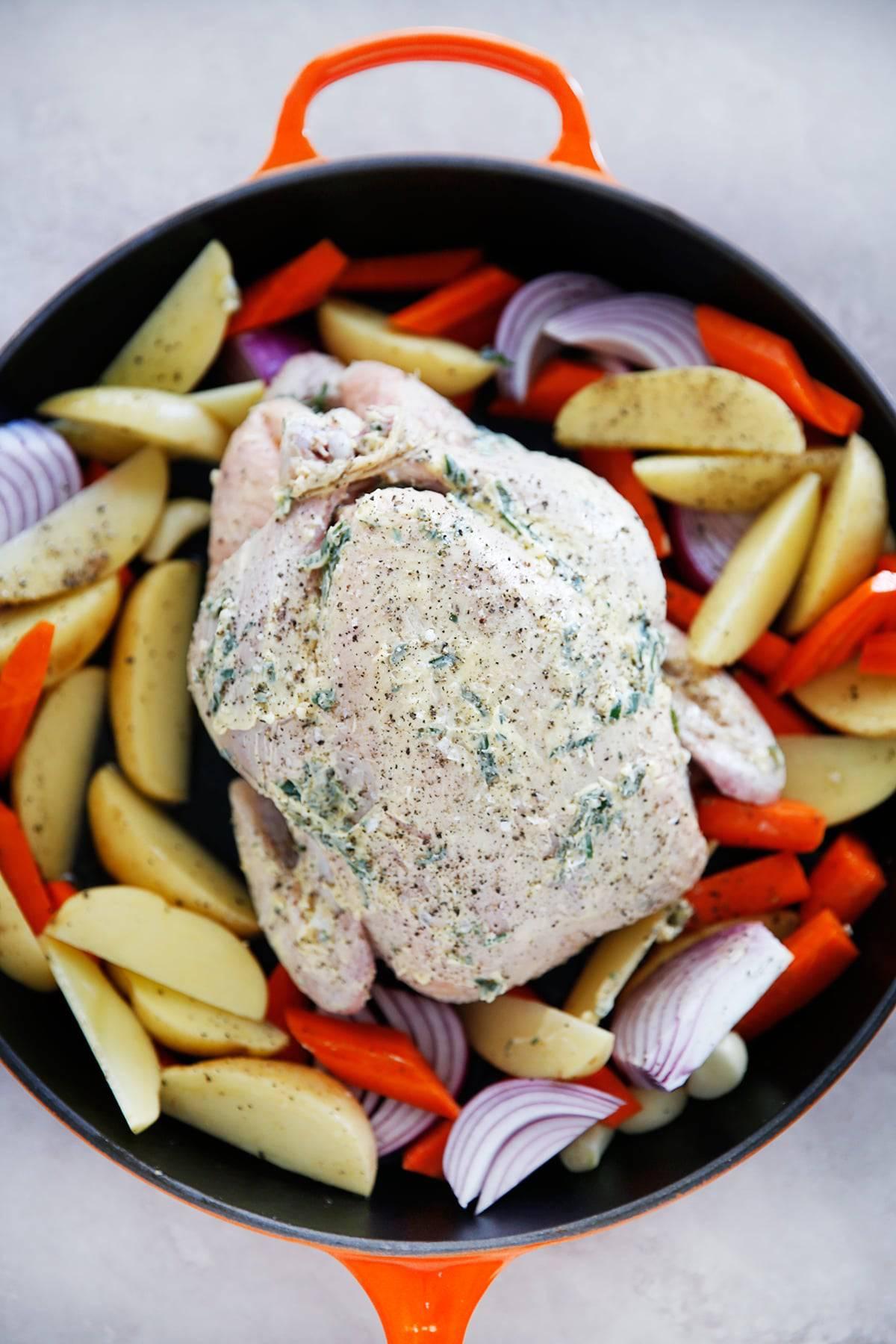 roast chicken dinner recipe