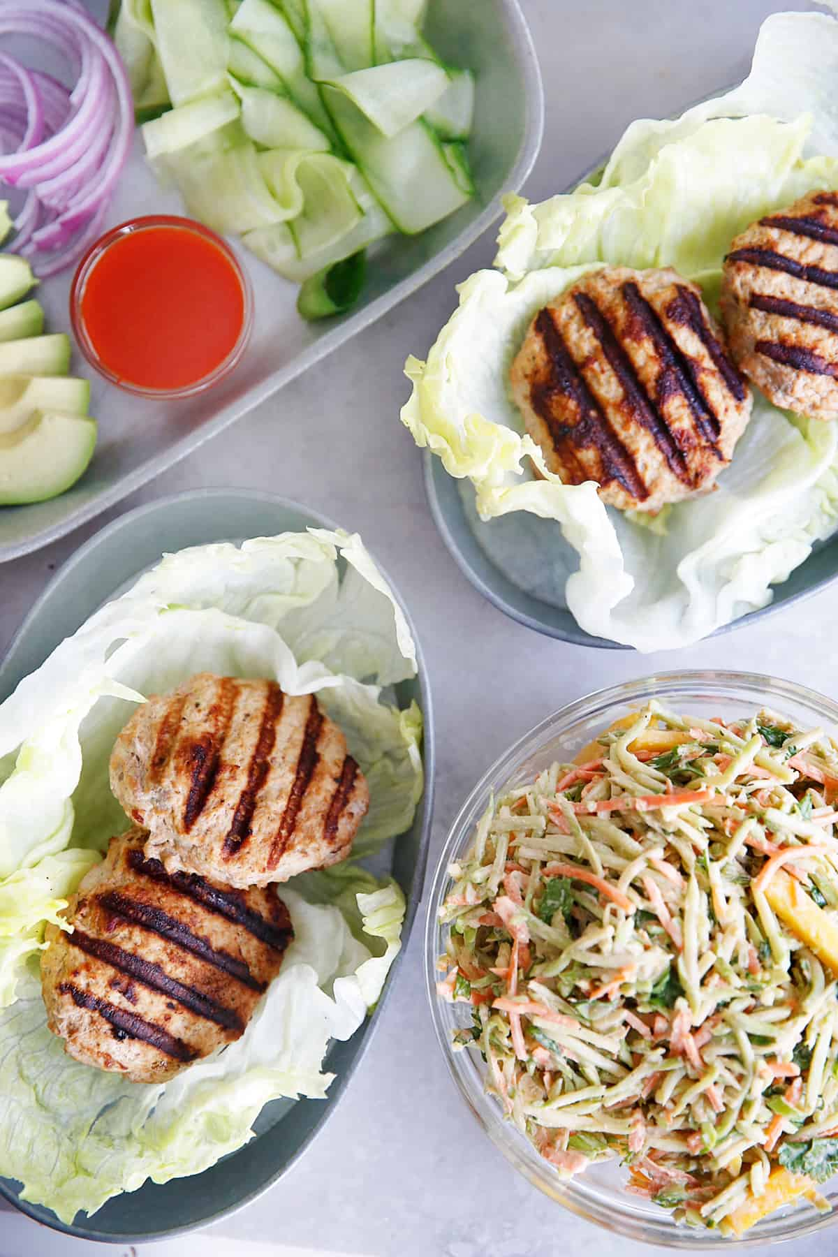 Thai Turkey Burgers and Slaw