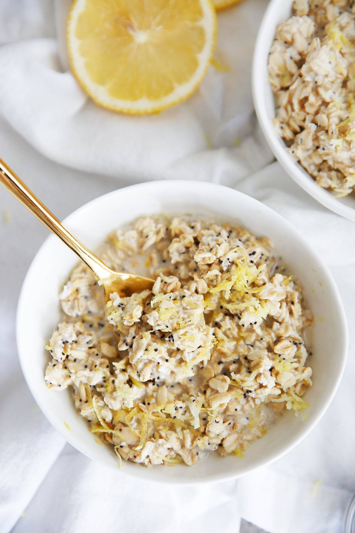 Lemon Poppy Seed Overnight Oats (Gluten-Free)