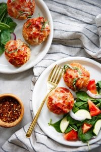 Turkey Pizza Meatloaf Muffins