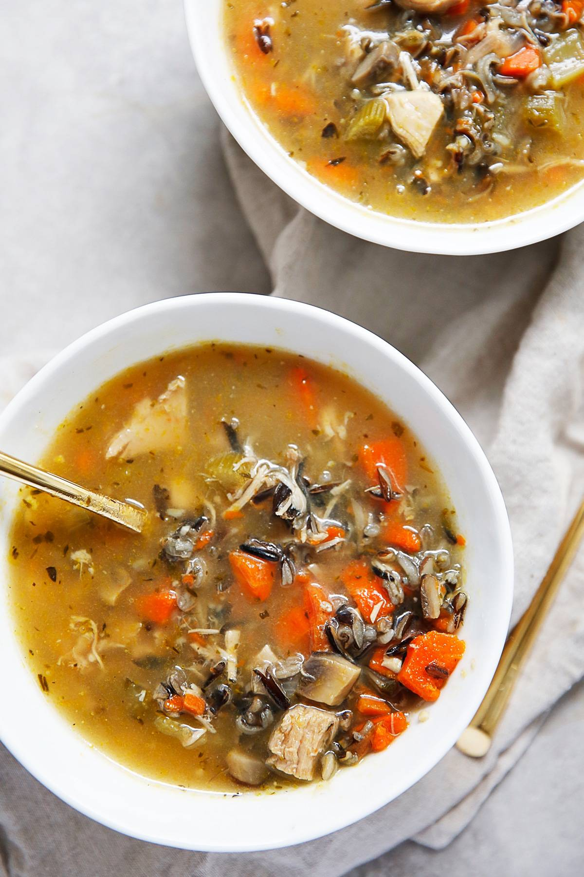 Turkey Wild Rice Soup From Leftover Turkey Lexi S Clean Kitchen