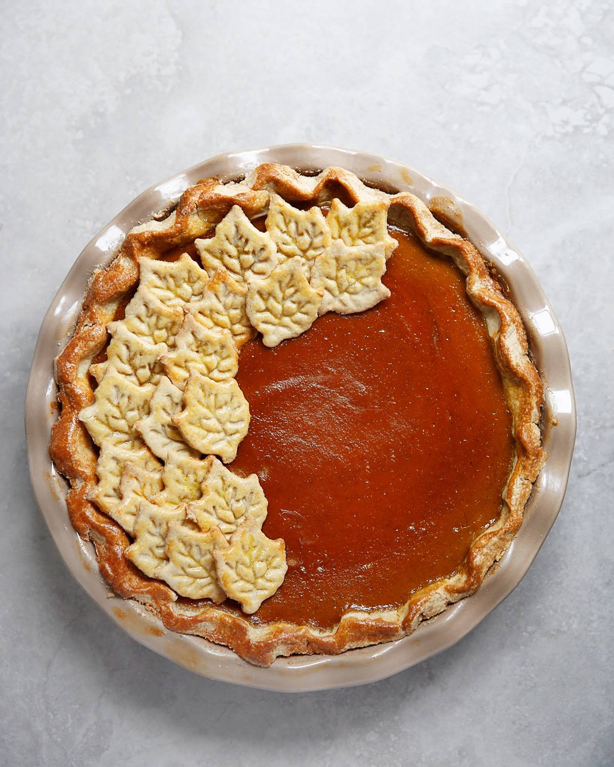 Whole gluten free pumpkin pie