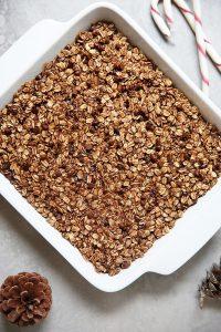 Chocolate Peppermint Oatmeal Bake