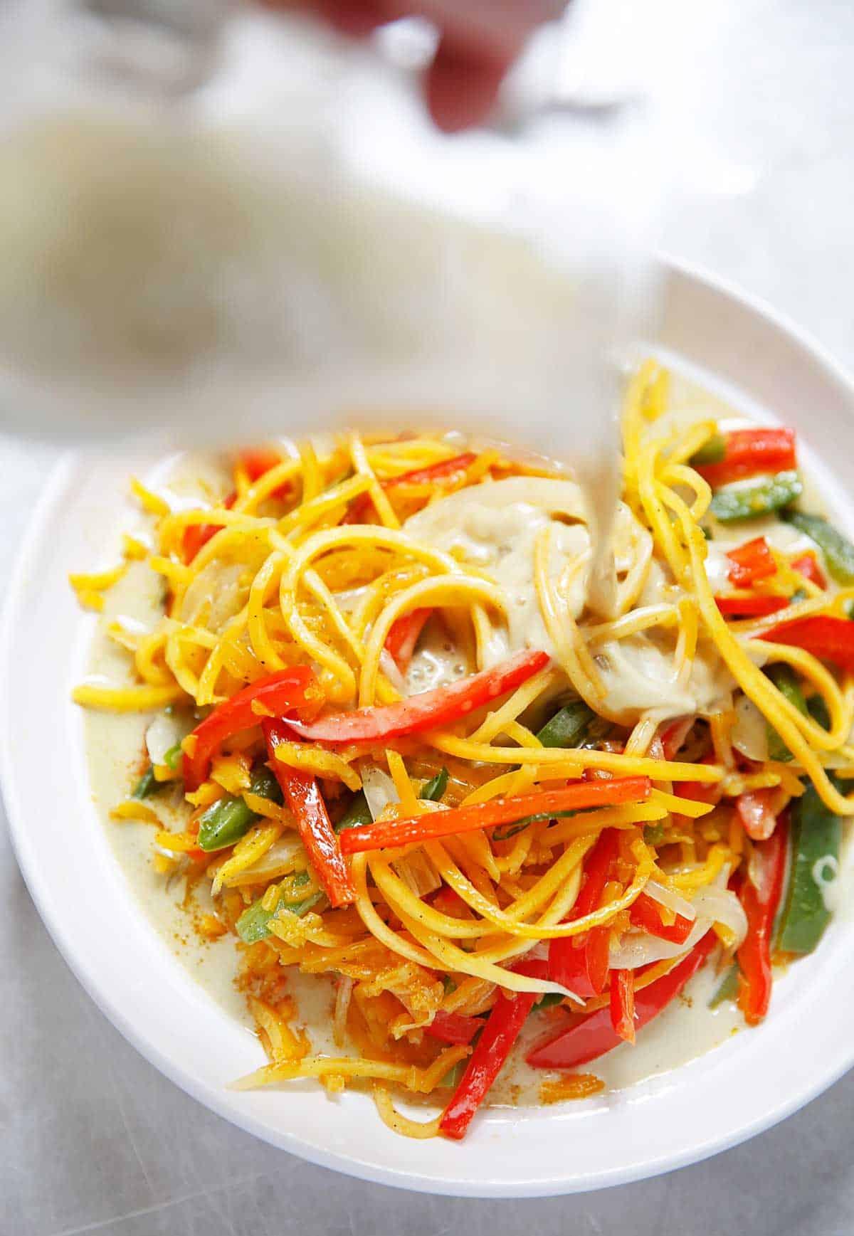 Butternut squash noodle recipe vegetarian