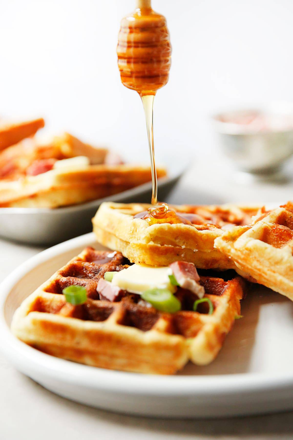 Ham and Cheese Waffles (Gluten-Free)